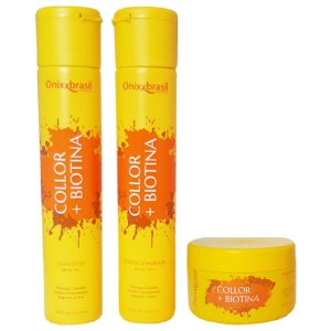 Kit completo Collor + Biotina - shampoo + condicionador + máscara