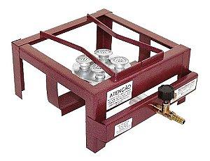 Fogão Industrial Alta Pressão De Mesa 1 Boca Com Caixa - Roa