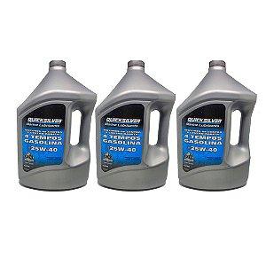 Óleo Mercruiser Gasolina 4l. - Kit 3 Unid.