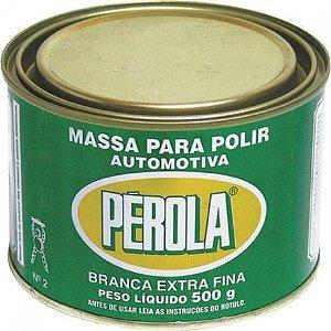 Massa de Polir Automotiva Branca Extra Fina Pérola 500g