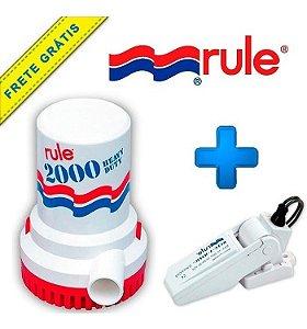 Kit Bomba De Porão Náutica 2000 Gph Rule 24v + Automático
