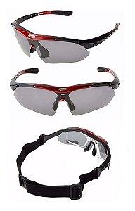 Óculos De Sol Ciclismo Troca Lente Polarizado Uv400 Rockbros