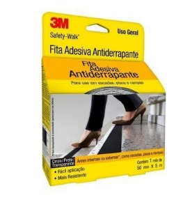 Fita Antiderrapante 3m Safety-walk Transparente 50 Mm X 5m