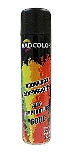 Tinta Spray Roda Radcolor 400ml Preto Fosco Alta Temperatura