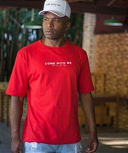 Camiseta OVER Come With Me Vermelha - CO Oficial