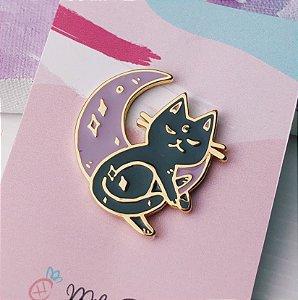 Pin Gato Lunar