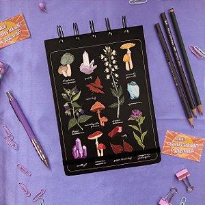 Sketchbook Mistérios da Natureza - Papel para desenho 80g