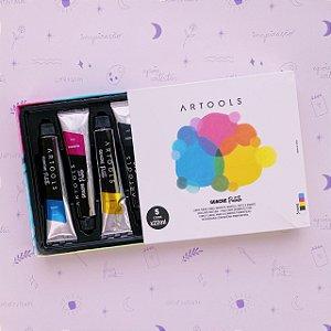 Guache Artools Palette 5 cores em bisnaga