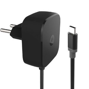 Carregador Motorola Turbo Power USB C Tipo C 30W - Carga Rápida