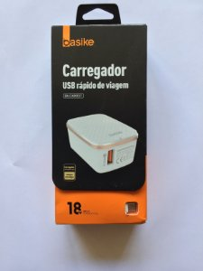 CARREGADOR TURBO 18W QUALCOMM QUICK CHARGE 3.0  BASIKE BA-CAR0037
