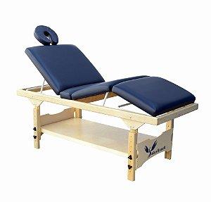 Maca de Massagem Fixa 3 Posições Com Prateleira e Regulagem de Altura