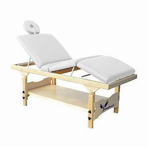 Maca de Massagem Fixa Spa 3 Posições com Prateleira