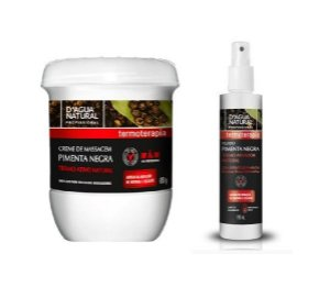 Kit Fluido e Creme Pimenta Negra para Redução de Medidas