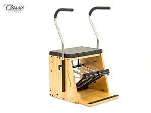 Aparelho de Pilates Cadeira Combo Step Chair Linha Classic com Estofamento
