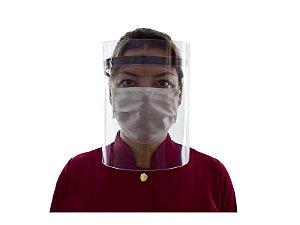 Máscara Facial de Acrílico Com Dupla Proteção