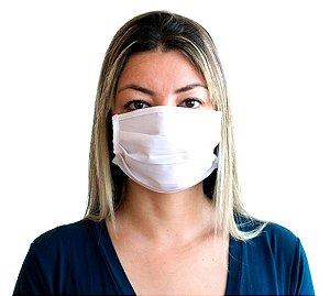 Kit Com 100 Máscaras de Tecido Gabardine Reutilizável e Lavável