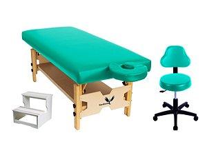 Kit Para Estética 3 Itens Maca Fixa Escadinha Mocho Confort