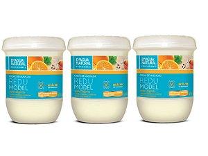 Kit Com 3 Cremes Redumodel Com Oligovita D'agua Natural
