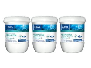 Kit Com 3 Cremes Algas Marinhas Novo Blend de Extratos D'agua Natural