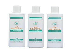 Kit Com 3 Loções Emoliente Limpeza Facial Fisioline