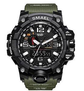 Relógio Militar Smael 1545 Verde