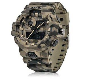 Relógio Militar Smael Camuflado 8001