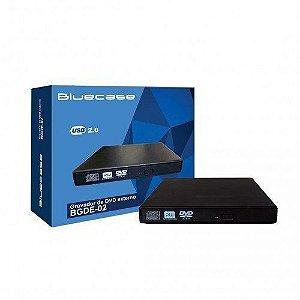 Gravador DVD Externo Slim BGDE-02 USB 2.0 BLUECASE
