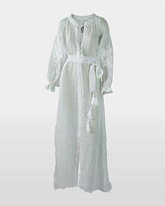 Vestido Gaze de Linho Neutros
