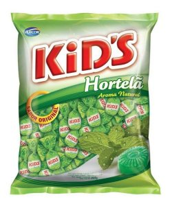 Bala Kids Hortelã 600g.
