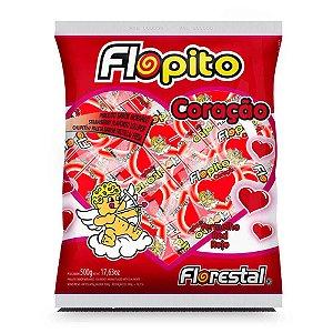 Pirulito Flopito Coração c/50 unidades.