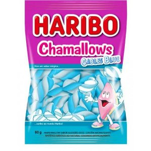 Marshmallows Haribo Chamallows 80gr. Cores