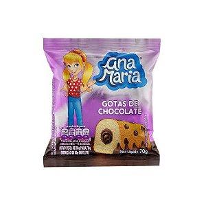 Bolinho Ana Maria Gotas de Chocolate 80gr.