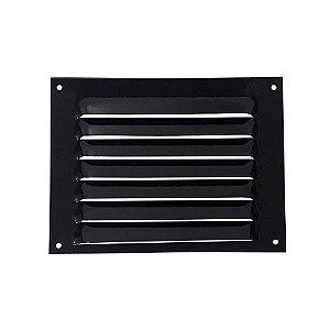 Grade De Ventilação De Alumínio Preta Itc 20x15cm