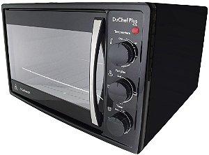 Forno Elétrico Safanelli Du Chef Plus Preto de Bancada 45L
