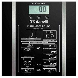 Balança Digital Safanelli 150 Kg Preta