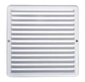 Grade de Ventilação Quadrada Branca 25x25 cm