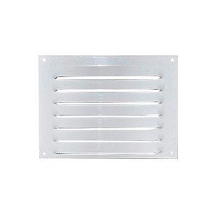 Grade de Ventilação de Alumínio Branca 20x15cm