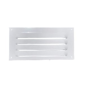 Grade de Ventilação de Alumínio Branca 20x10cm