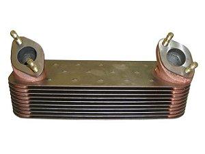 Radiador Óleo 10 Placas Inox  - Mercedes OM-447/OM449/O-400/L-1932 - 0011883101