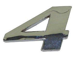 Emblema Número 4 Cromado Mercedes AXOR / ATEGO  - 9438171514