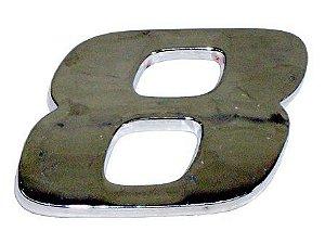 Emblema Número 8 Cromado Mercedes AXOR / ATEGO  - 9438171914