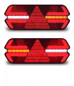 Par Lanterna Traseira Led Carreta Triplo X 12v 24v