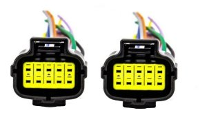 Chicote Conector Farol Principal Scania S5 10 Vias ( Par)
