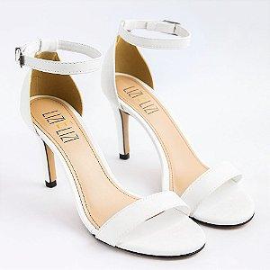 Sandália Branca Salto Fino