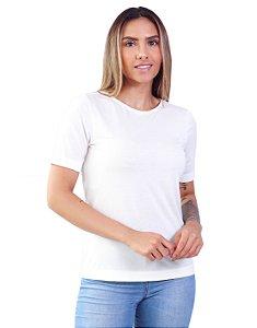 T-Shirt Modal Gola Careca Magnolia Off Talco