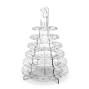 Torre De Acrílico 6 Andares Para 100 Macarons