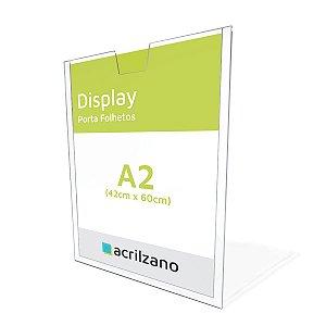 Display A2 Vertical De Parede Em Acrílico