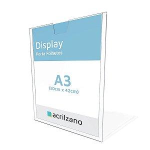 Display Porta Folha De Parede A3 Vertical + Dupla Face