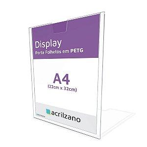 Display Porta Folha de Parede em PETG A4 Vertical