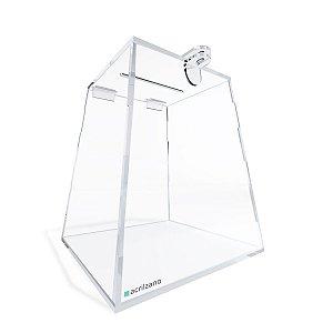 Urna Piramidal Transparente 20cm